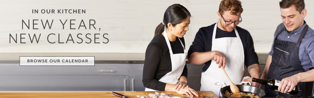 in-store experience, cooking classes, retail experience, customer events